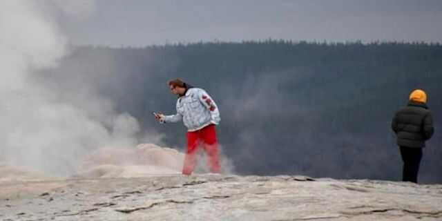 Tourists arrested at Yellowstone National Park's Old Faithful geyser for 'thermal trespassing'